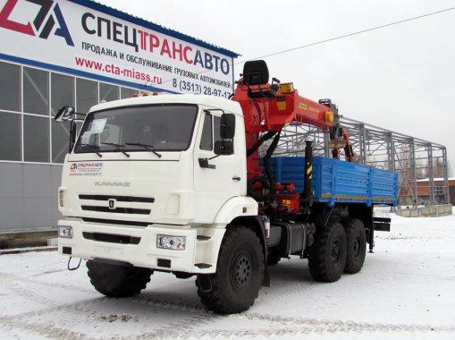 Фото: Автомобиль бортовой на шасси КамАЗ 43118 с КМУ