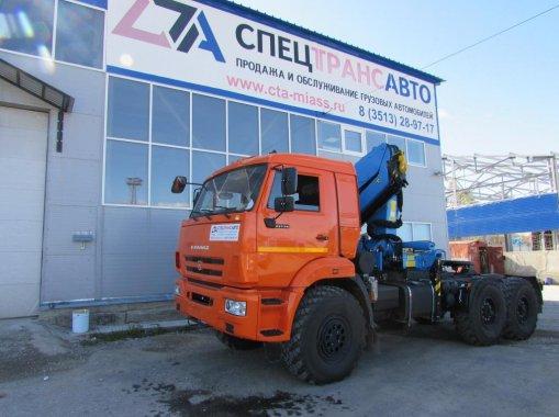 Фото: Седельный тягач КамАЗ 43118 с КМУ Инман-150