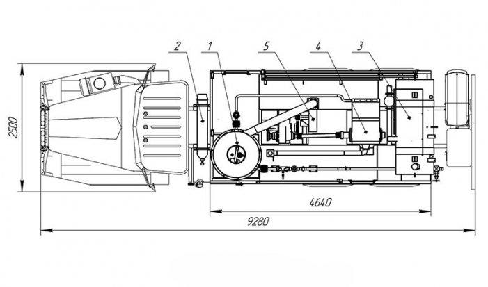 Схема планировки: АДПМ-12/150 Урал 4320-61Е5