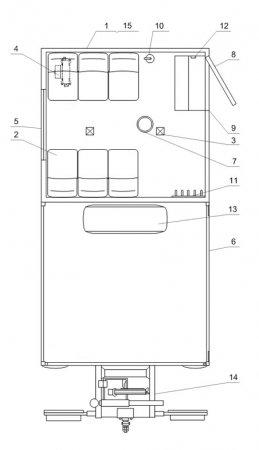 Схема планировки: ГПА 6+2 откр. с КМУ ИМ-15 Камаз 43118