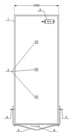 Схема планировки: Изотермический фургон Камаз 43118