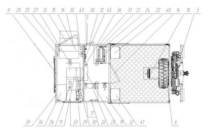 Схема планировки АНРВ УралNEXT 43206-6152-71Е5