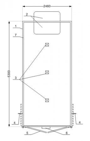 Схема планировки: Изотермический фургон с КУ Урал 4320