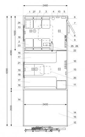 Схема планировки: ТБМ Камаз 43118 с КМУ ИМ-20