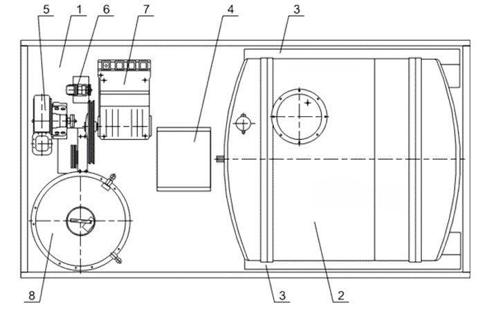 Схема: ППУ 1600/100 на шасси Урал 4320-60
