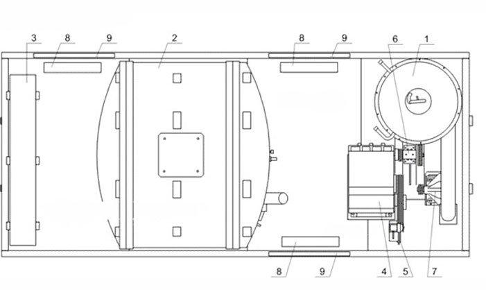 Схема: ППУ 1600/100 на шасси КАМАЗ 43118-50