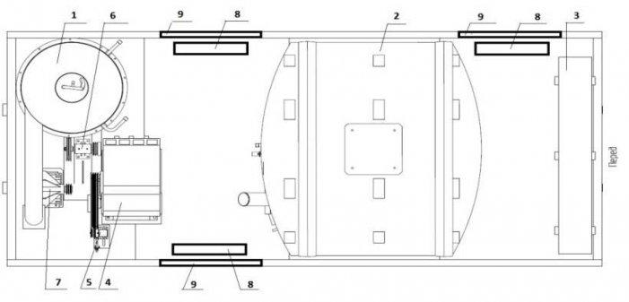 Схема: ППУ 500/06 на шасси КАМАЗ 43118-50