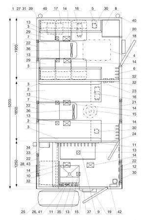 Схема планировки: ТБМ Урал 4320