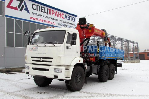 Автомобиль бортовой на шасси КамАЗ 43118 с КМУ