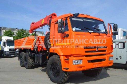 Бортовой автомобиль с КМУ ИМ-150 УСТ 54531 КАМАЗ 43118-50