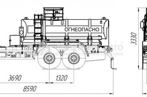 АТЗ-9 на шасси Камаз 43118-46 схема