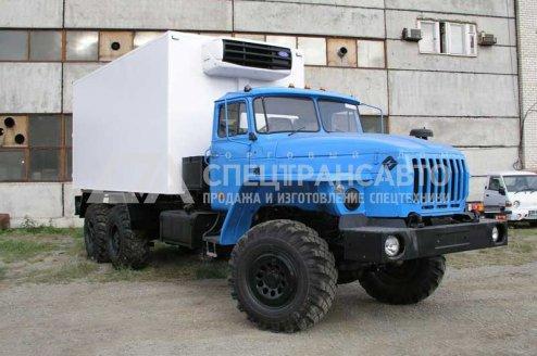 Фото: Изотермический фургон с КУ Урал 4320