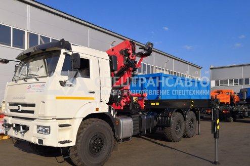 Самосвал КамАЗ с КМУ ИМ-320 с трехсторонней разгрузкой