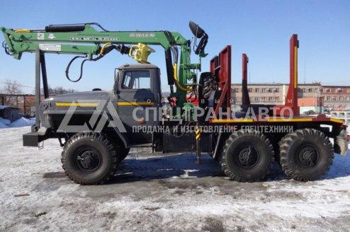 Лесовоз на шасси Урал 55571 с ГМ