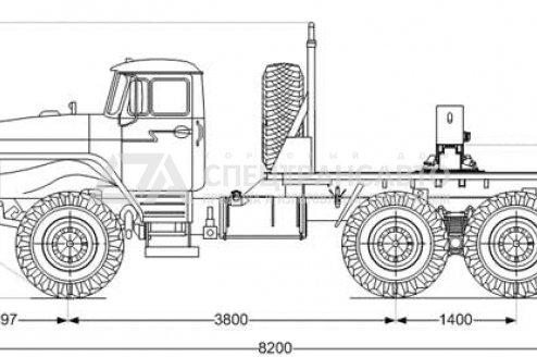 Трубоплетевоз Урал 5557-72М схема