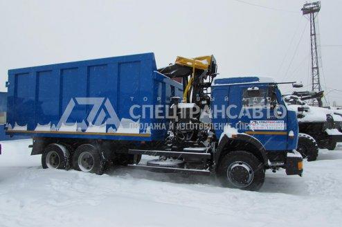 Фото: Мусоровоз КАМАЗ 65115 с КМУ