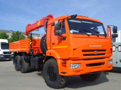 Бортовой автомобиль с КМУ ИМ-150 КАМАЗ 43118
