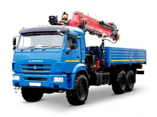 Бортовой автомобиль с КМУ ИМ-320 КАМАЗ 43118-50