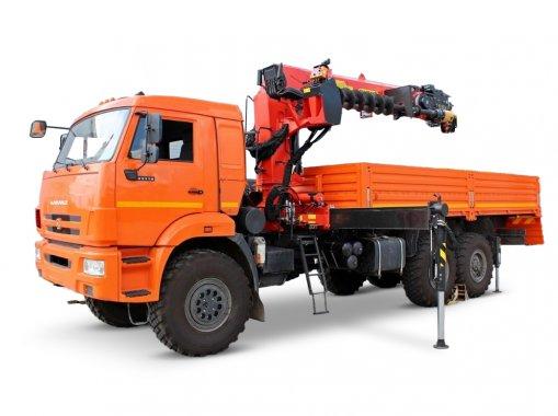 Бортовой автомобиль с КМУ ИТ-150 КАМАЗ 43118-50