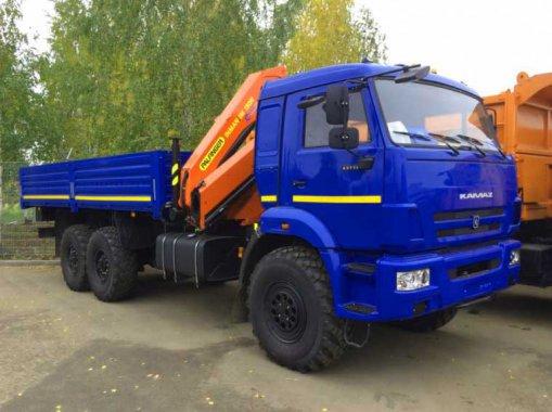 Бортовой автомобиль с КМУ ИМ-150N Камаз 43118-50