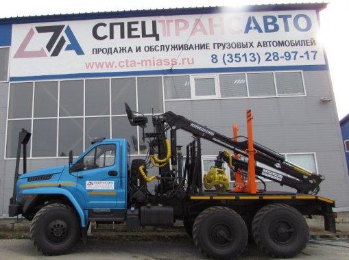 Лесовоз с КМУ Майман 100S на шасси Урал NEXT