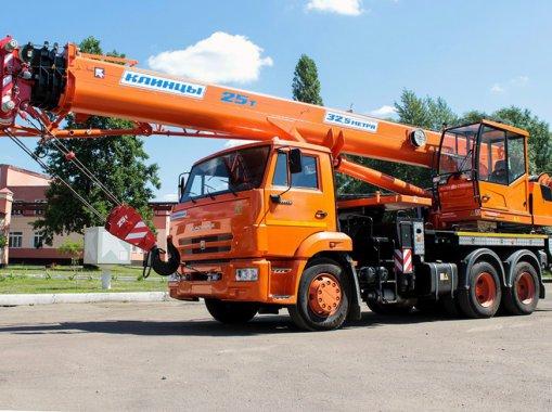 Автокран Клинцы КС-55713-1К-4В (овоид) на шасси КАМАЗ-65115