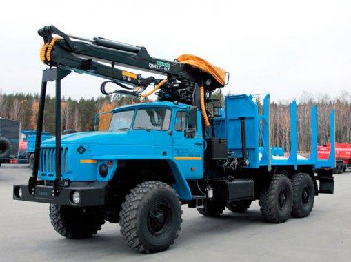 Сортиментовоз Урал 4320 c ГМ