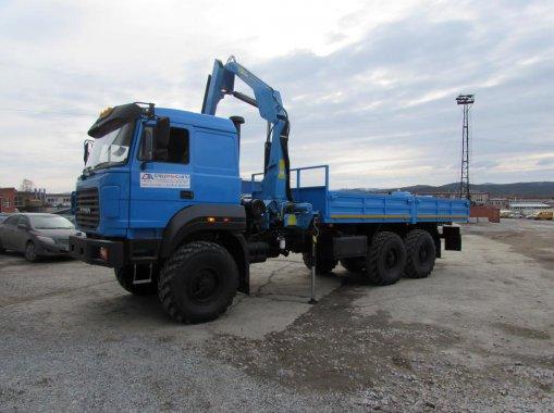 Бортовой Урал 4320 бескапотный с КМУ ИМ-150