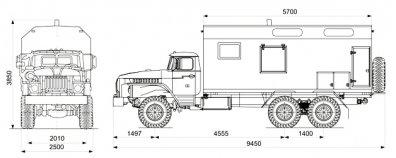 Чертёж: АРС Урал 4320-60Е5