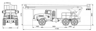 Чертёж: Автогидроподъемник АГП ВС-22 Урал 4320-1112-61Е5