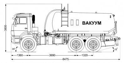 Чертёж: МВ-10 на шасси Камаз 43118-3027-50