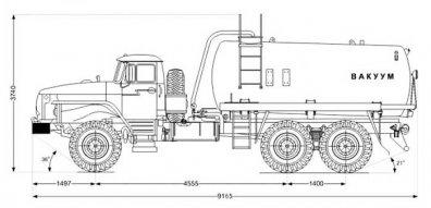 Чертёж: МВ-10 на шасси Урал 4320-60Е5