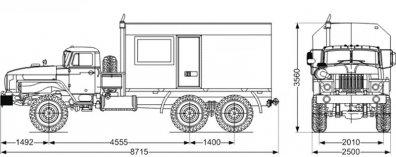 Чертёж: ППУ 1600/100 на шасси Урал 4320-60Е5