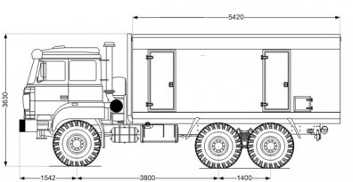 Чертёж: ППУА 1600/100 Урал 5557-80Е5